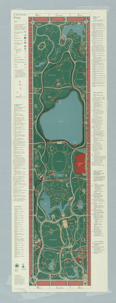 Map, Map of Central Park