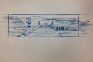 Concept Art, Road Closure, Cars, 2006