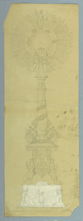 Drawing, Design for Monstrance, 1820–40