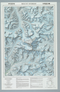 Map, Mount Everest