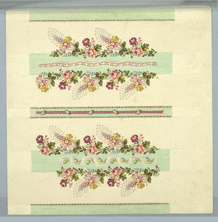 ornamented stripes and flower bands