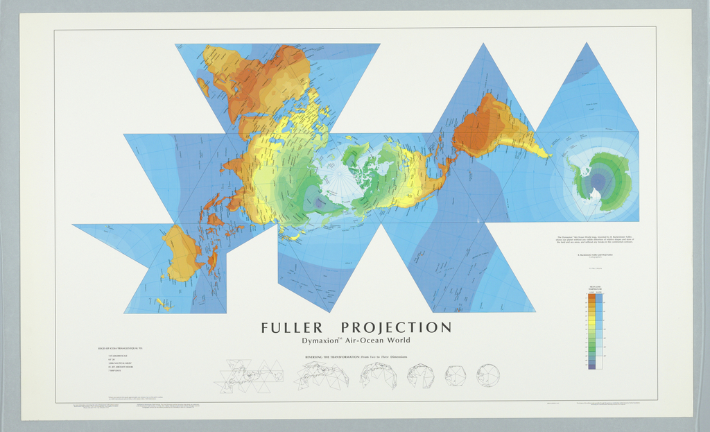 Map, Fuller projection, dymaxi