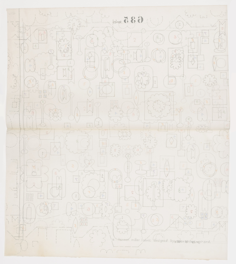 Drawing, Textile Design: Multiform, no. 648