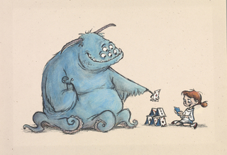 Concept Art, Sullivan and Boo, Monsters, Inc., 2001