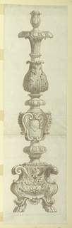 Drawing, Elevation of Alter Candlestick in Neo-Renaissance Style, 1810–30