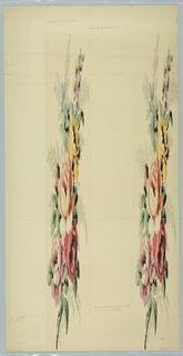 Drawing, Mise en Carte for a Woven Textile, 1919