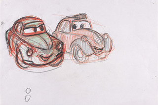 Concept Art, Mama and Uncle Topolino, Cars 2, 2011