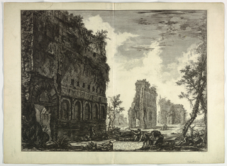 Print, View of the Villa Adriana