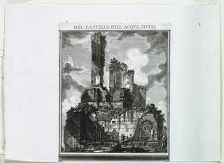 Print, Del Castello dell'Aqua Gi, 1761