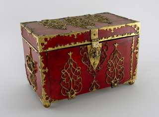 Strong box converted to jewelry box.