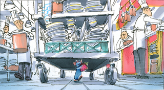 Concept Art, Remy's Escape from the Kitchen, Ratatouille, 2007