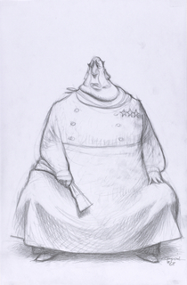 Concept Art, Gusteau, Ratatouille, 2007