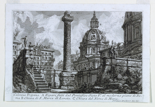 "Print, The Column of Trajan from ""Antichita Romane I"""