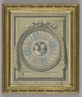 Framed almanac