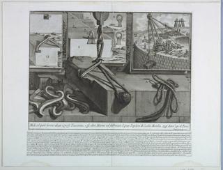Print, Construction details- Tomb of Cecilia Metella, from Antichita Romane III