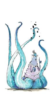 Concept Art, Librarian, Monsters University, 2013
