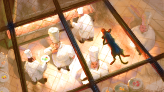 Concept Art, Remy on the Skylight, Ratatouille, 2007