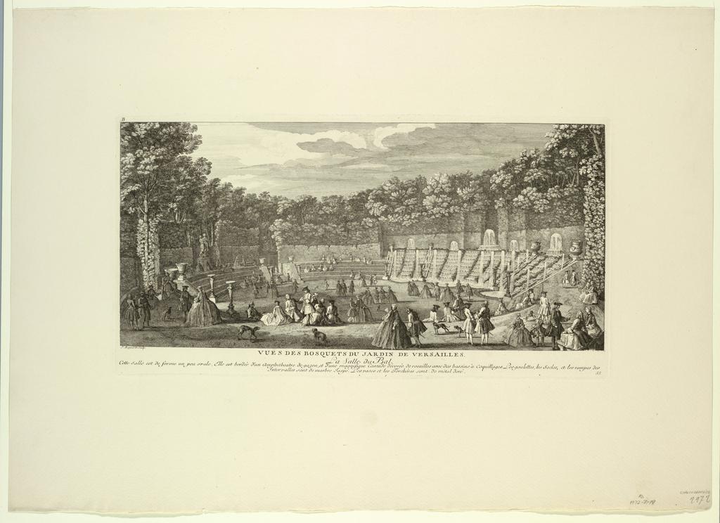 Print, Versailles, Groves of the Garden, the Ballroom