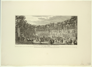 Print, Versailles, Groves of the Garden, the Ballroom