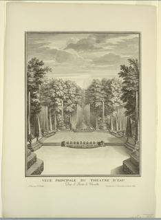 Print, Versailles, Gardens, Water Theatre