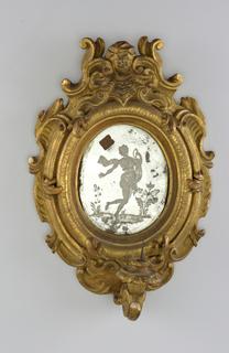 light bracket with framed mirror