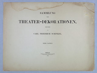 Album of theater decorations, Schinkel