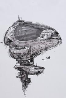 Concept Art, Axiom Exterior, WALL·E, 2008