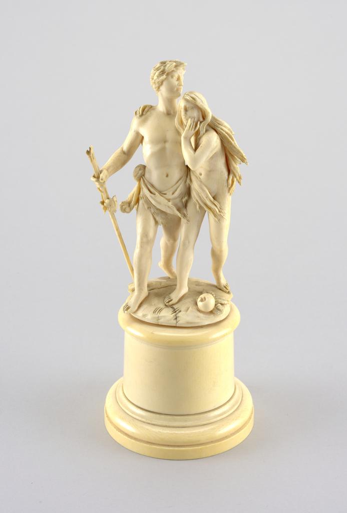Figural Group: Adam & Eve (Italy), ca. 1890