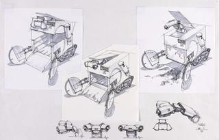 Concept Art, WALL·E Wheels and Eyes, WALL·E, 2008