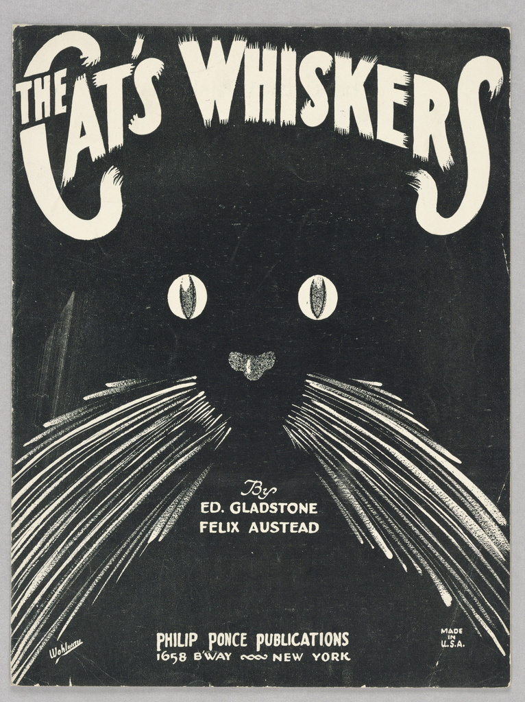 Sheet Music, The Cat's Whiskers, 1923