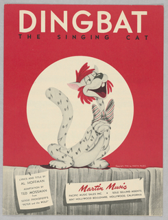 Sheet Music, Dingbat the Singing Cat, 1946