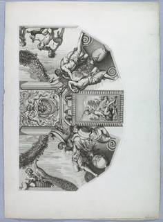 Print, Architecture, Gallery ceiling of the Sechetti Palace (right portion), 1668
