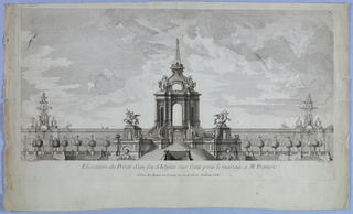 Print, Design for fireworks on the water for the marriage of the Dauphin, 1739