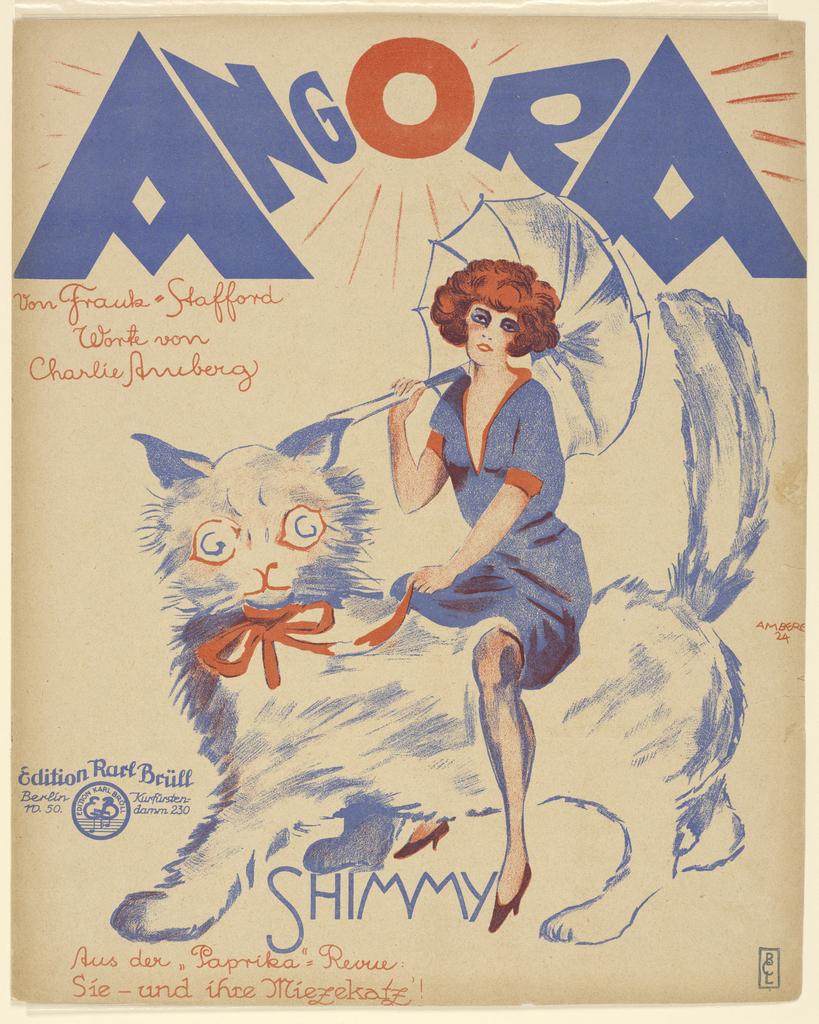 Sheet Music, Angora, 1924