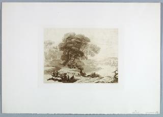 Print, Landscape (after Claude Lorrain), 1849