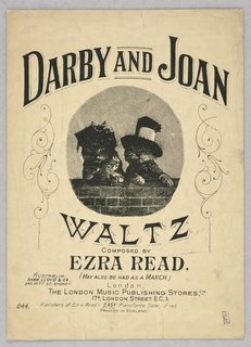 Sheet Music, Darby and Joan Waltz, ca. 1900