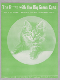Sheet Music, The Kitten with the Big Green Eyes, 1940