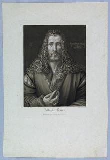 Print after self-portrait by Dürer.