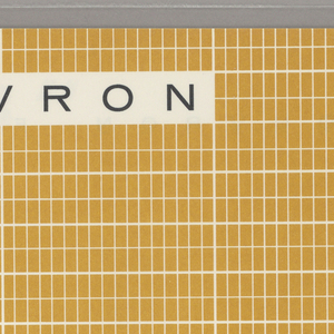 Checked yellow ground with three white and two black rectangles.
