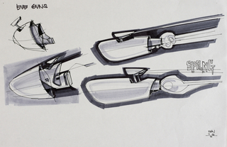 Concept Art, EVE Guns, WALL·E, 2008