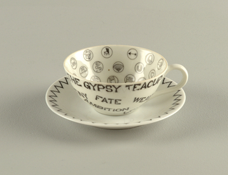 Gypsy Cup And Saucer, mid-20th century