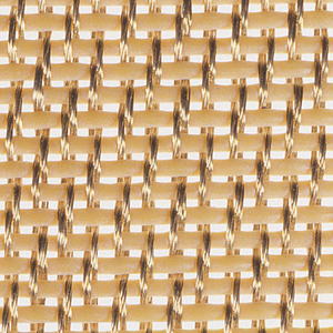 Woven herringbone twill of brass wire warp and silicone-covered copper wire weft maximizes heat transfer through the press mat, while equalizing the pressure being applied to the laminate and preventing shifting of the mat during the lamination process.