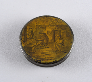 Revenge Patch Box And Cover, late 18th century
