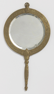 Circular hand mirror