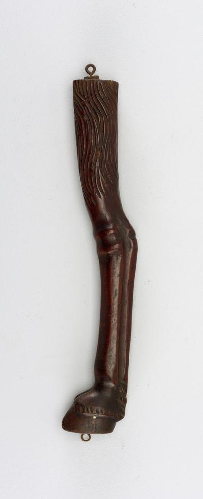 in shape of horse leg