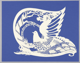 Cut-paper, The Dove of Peace, 1982