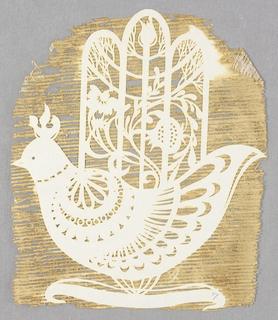 Cut-paper, Hamsa (Hand): Laser-cut i, 1982