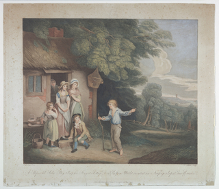 Print, A Shipwreck Sailor Boy Telling his Tale at a Cottage Door