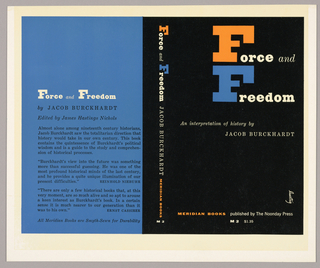 The front cover is black and the back cover is blue. The author, title and publisher are written vertically down the spine. On the back cover are the title, author's name and reviews of the book. Produced for Meridian Press