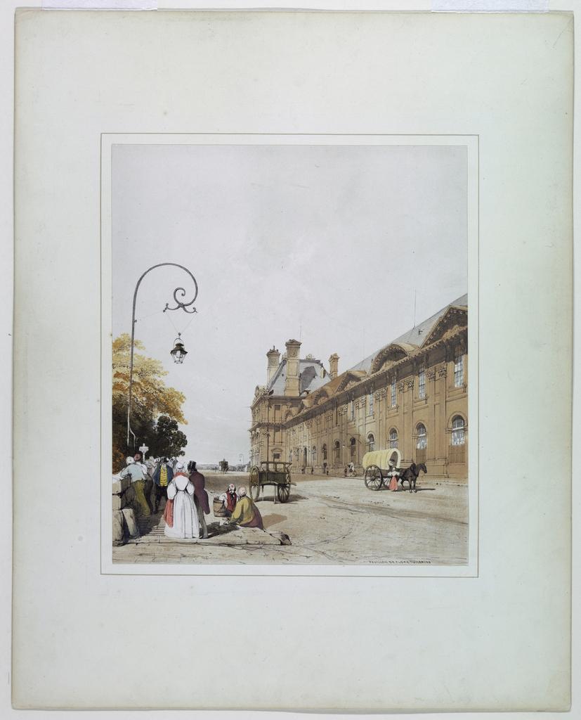 Print, Pavillon de Flore Tuileries, 1839